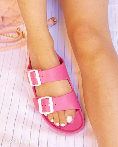 Double Buckle Adjustable Sandals - orangeshine.com