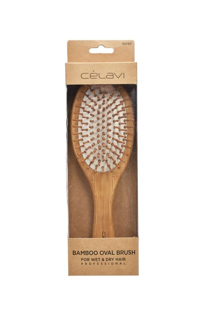 CELAVI BAMBOO OVAL HAIR BRUSH - orangeshine.com