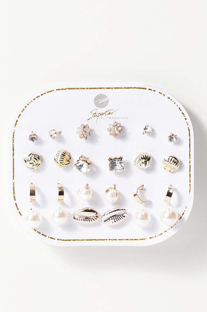 12 Pair Earrings - orangeshine.com