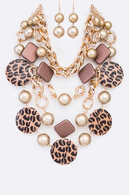 Mix Media Layer Statement Necklace S - orangeshine.com