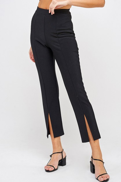 SPLIT HEM KNIT PANTS - orangeshine.com