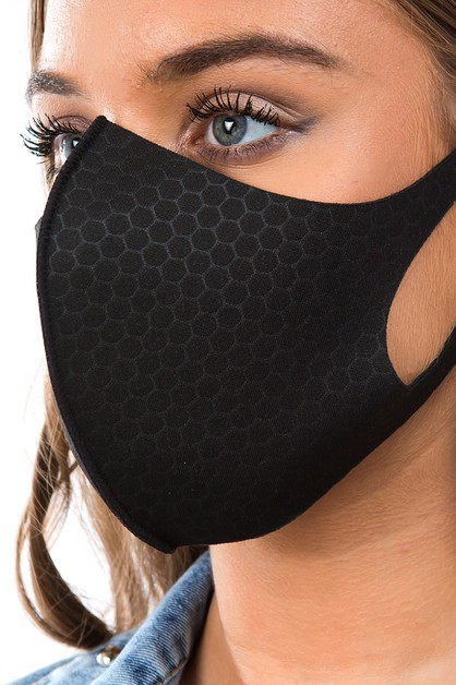 3D-HONEYCOMB FASHION FACE COVER MASK - orangeshine.com