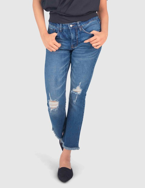 WOMENS HIGH-WAISTED DISTRESSED PANT - orangeshine.com