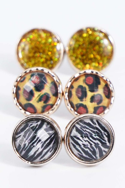 Animal Print Earrings - orangeshine.com