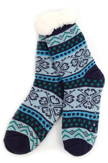 Womens Plush Sherpa Winter Socks - orangeshine.com