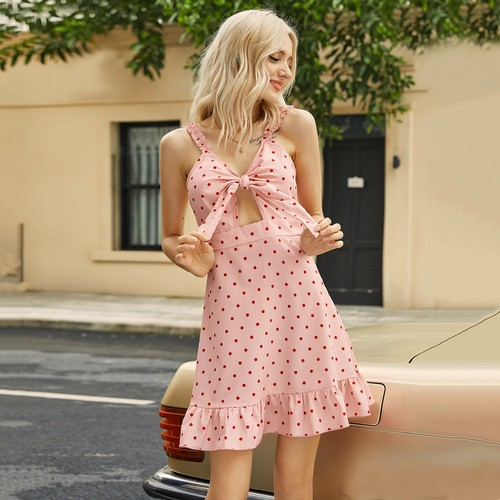 Lovely Polka Dot Spring Dress - orangeshine.com