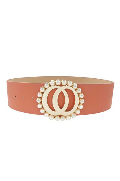 DOUBLE JOINED ROUND PEARL STYLE BELT - orangeshine.com
