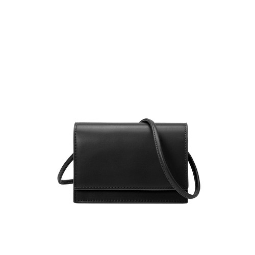 Gina Small Vegan Crossbody Bag in Black - orangeshine.com