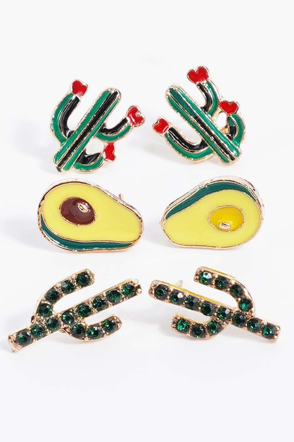 Avocado Earrings  - orangeshine.com