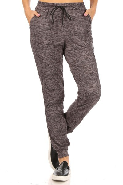 Heather Joggers Sweatpants Soft  - orangeshine.com
