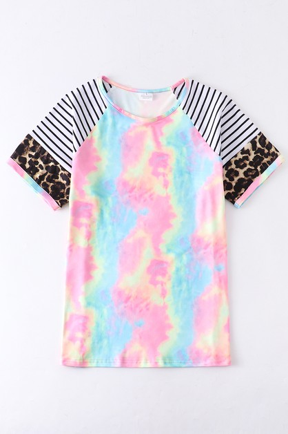 Mommy and me tie dye stripe shirt - orangeshine.com