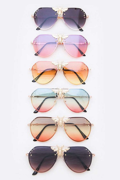 Bee Iconic Aviator Sunglasses Set - orangeshine.com