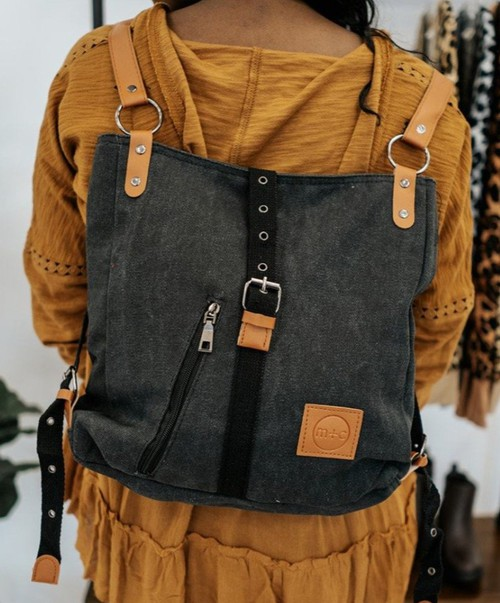 Canvas  3 in 1 backpack purse - orangeshine.com