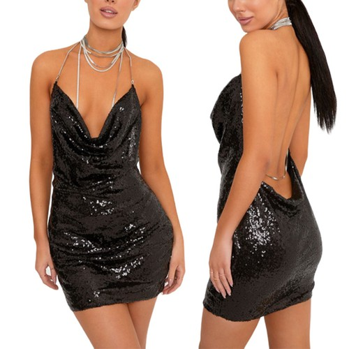 Backless Deep V Sexy Party Dress - orangeshine.com