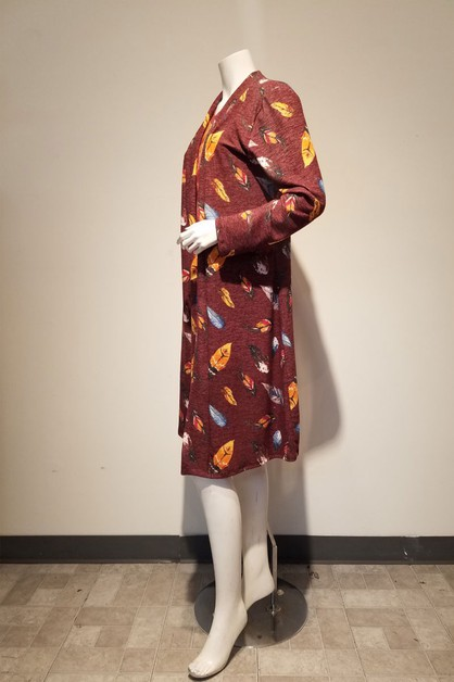 print long cardigan - orangeshine.com