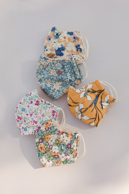 10-pack Floral Mask - orangeshine.com
