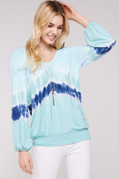 Aqua Off shoulder peasant top - orangeshine.com
