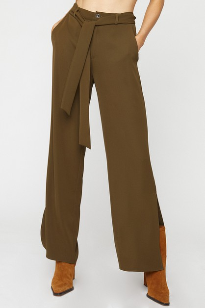 SPLIT HEM FULL PANTS - orangeshine.com