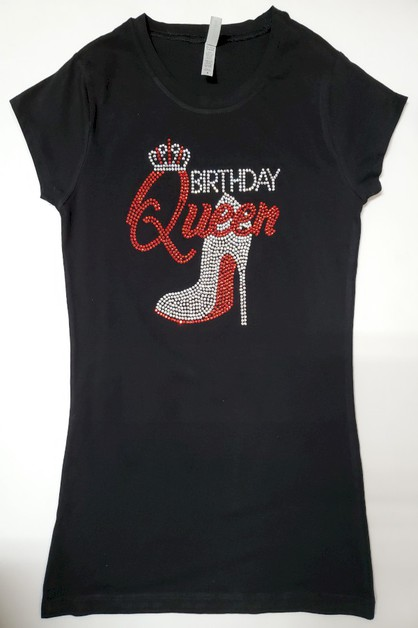 BIRTHDAY QUEEN with Red Shoe Crown - orangeshine.com