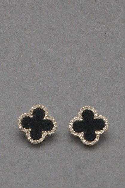 DURUZY CLOVER POST EARRING - orangeshine.com
