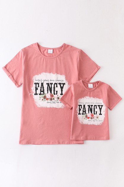 Fancy floral shirt mommy and me - orangeshine.com