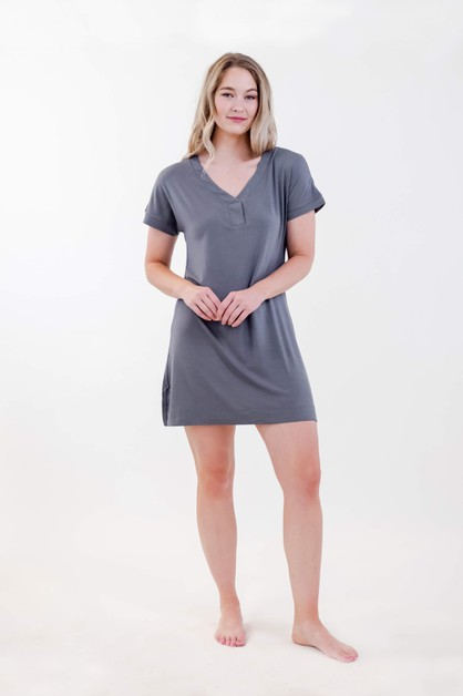 One Spirit Short Sleeve Shirt Dress - orangeshine.com