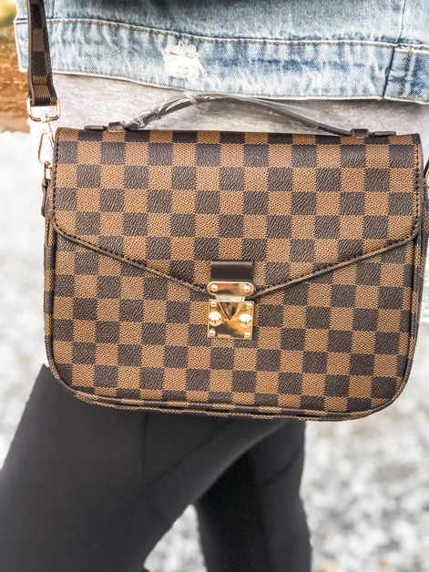 Checkered satchel bag - orangeshine.com