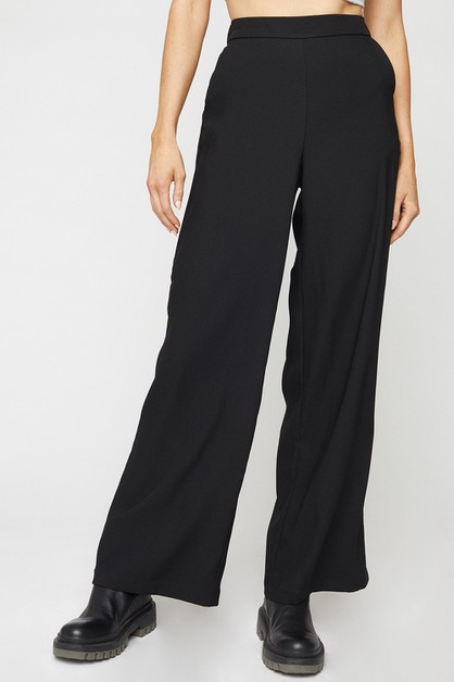 WIDE LEG PULL ON PANTS - orangeshine.com