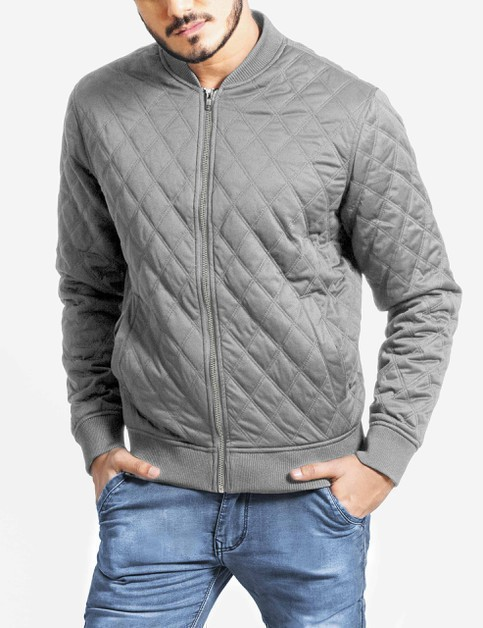 Mens Quilted Bomber Jacket - orangeshine.com