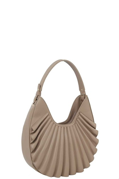 SMOOTH FLAPPY WAVE DESIGN HOBO BAG - orangeshine.com