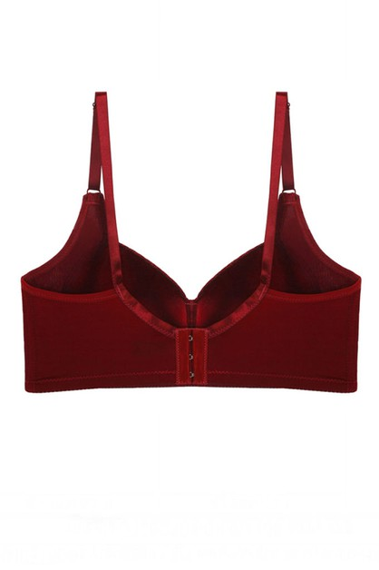 Solid Plunge Bra with underwire - orangeshine.com