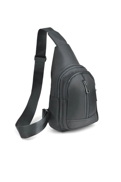 Gray Crossbody Sling Bag Backpack - orangeshine.com