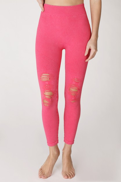 Vintage Ripped Jeggings - orangeshine.com