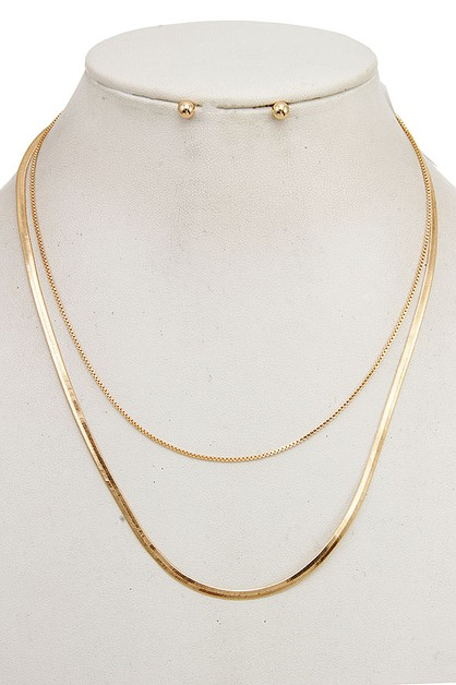 FLAT DAINTY CHAIN NECKLACE SET - orangeshine.com
