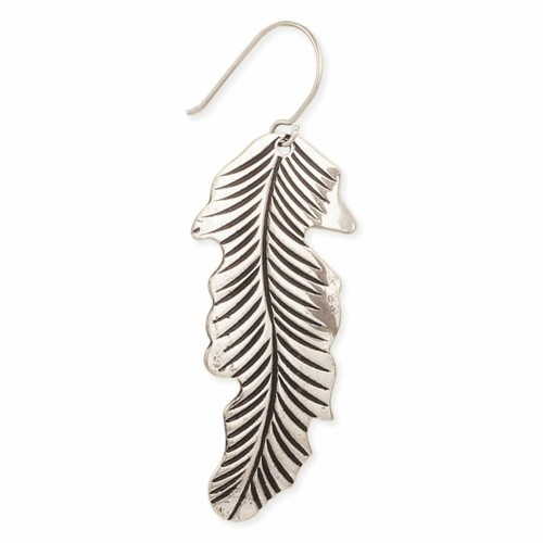 Floating Feather Silver Earring - orangeshine.com