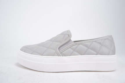 Quilted  Platform Slip On  Sneakers - orangeshine.com