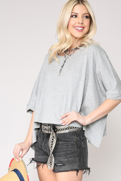 OVERSIZED TOP WITH SLOUCHY FIT - orangeshine.com