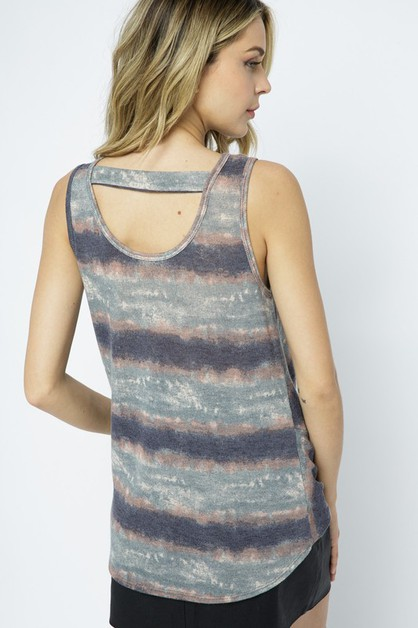 SLEEVELESS TIE DYE TOP - orangeshine.com