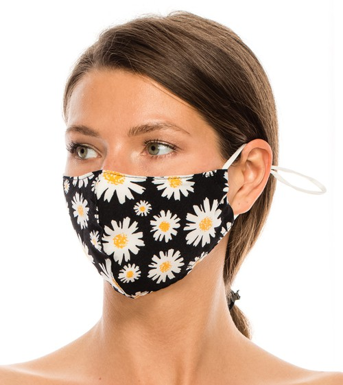 Washable Cotton Floral Face Mask - orangeshine.com