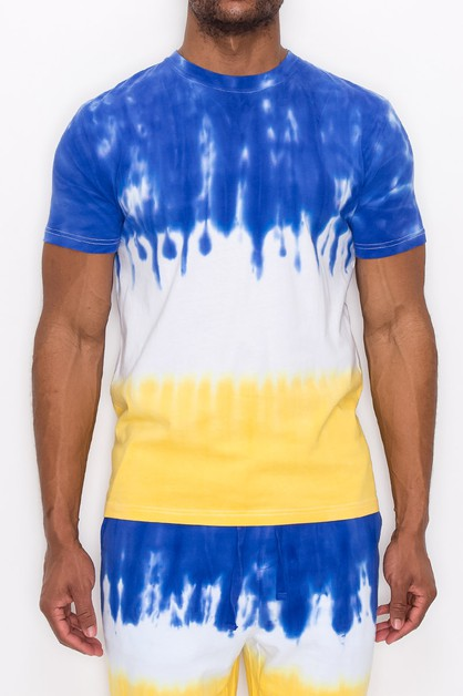 MEN TIE DYE DRIP T-SHIRTS - orangeshine.com