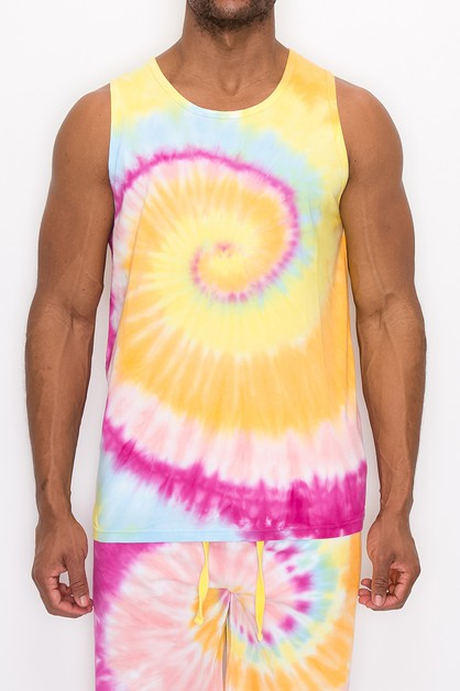 MEN TIE DYE TANK TOP - orangeshine.com