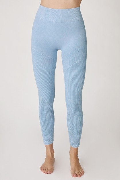 Vintage Lined 7/8 Crop Leggings - orangeshine.com