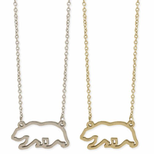 Mountain Mama Bear Outline Necklace - orangeshine.com