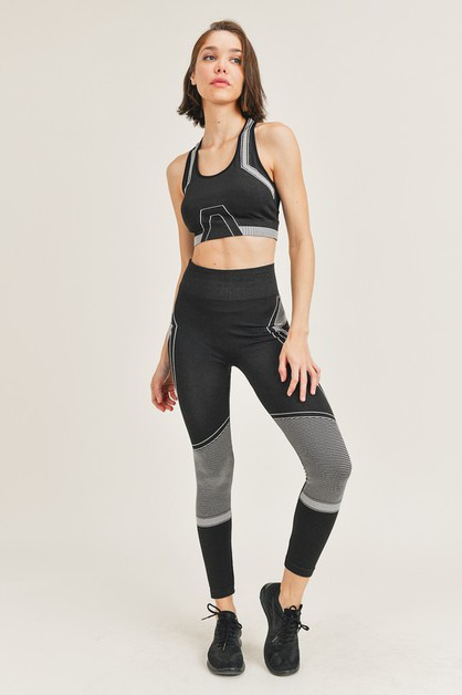 Seamless Sport bra and Legging Set - orangeshine.com