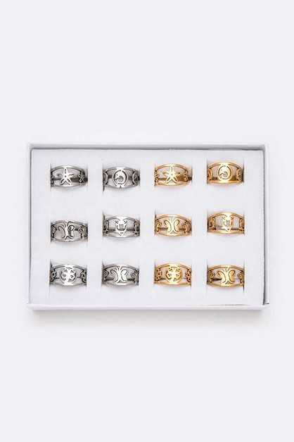 Stainless Steel Fashion Ring Set - orangeshine.com