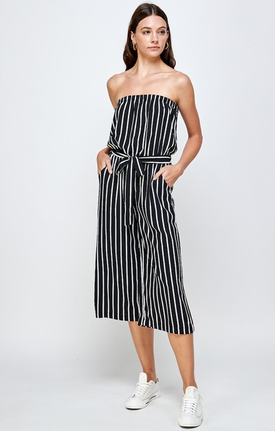 STRIPED ROMPER JUMPSUIT - orangeshine.com