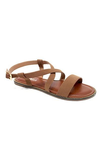 Minimalist Cross Strap Sandals - orangeshine.com