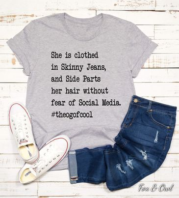 She is clothed in Skinny Jeans - orangeshine.com