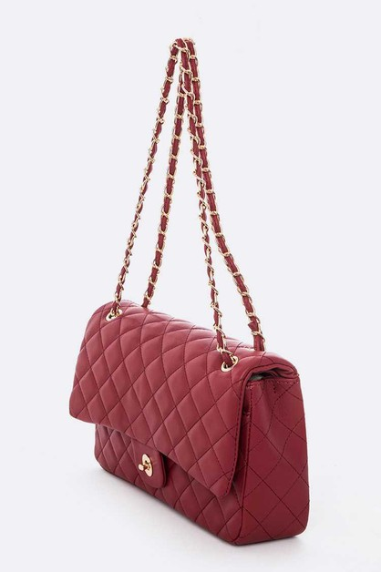 Quilted Classic Shoulder Bag - orangeshine.com