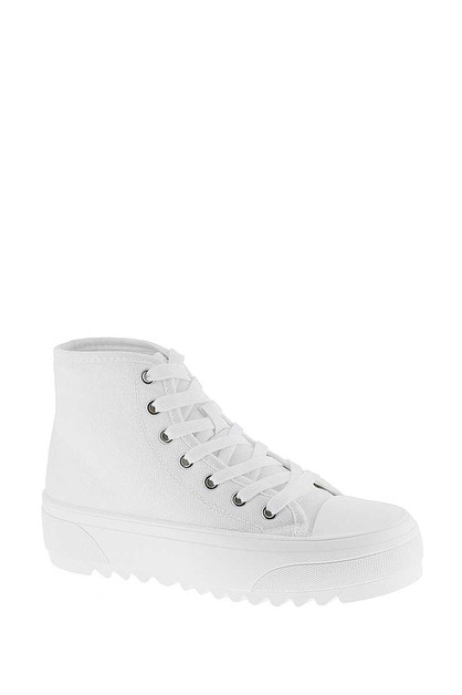TRENDY LACE STYLE SNEAKERS - orangeshine.com